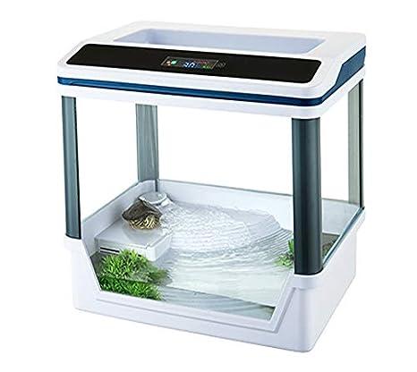 takestop® Acuario Tortugas terrario t360 °F con Sistema de filtrado E iluminación LED SMD 33.5 x 22 x 33 cm 5 W Color Blanco/h LCD Digital: Amazon.es: ...