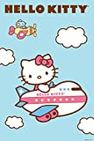 (24x36) Hello Kitty (Airplane) Art Poster Print