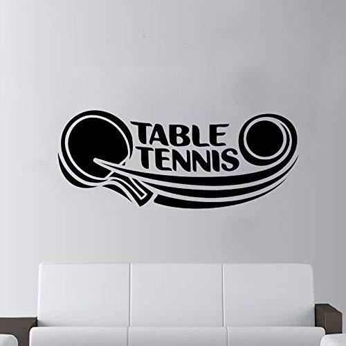 ganlanshu Tatuajes de Pared Deportes Tenis de Mesa Logo Vinilo ...