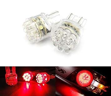 2 focos LED de luz lateral para intermitentes, luz de freno trasera antiniebla, 582 W21W 580 W21/5W, color rojo: Amazon.es: Coche y moto