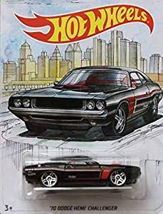 Detroit MUscle HOT Wheels Walmart Exclusive Black '70 Dodge HEMI Challenger DIE-CAST, WAL-MART Exclusive 1970 Dodge HEMI Challenger