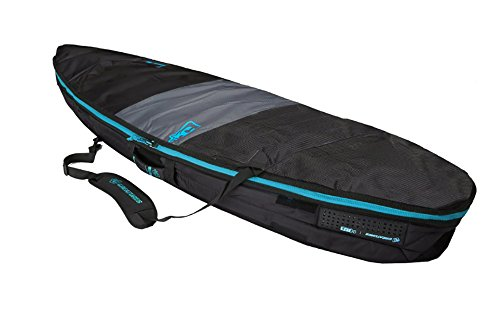 Shortboard Surfboard Day Use Bag by Creatures of Leisure (Charcoal / Cyan, 7'6')