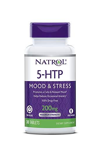 - Natrol 5-HTP Mood and Stress, 200mg, 60 Tablets