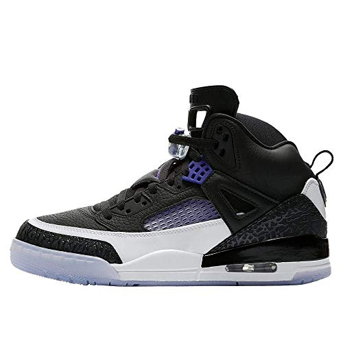 Nike Mens Air Jordan Spizike Basketball Shoes (10.5, Black/Dark Concord/White)