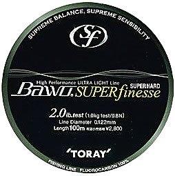 東レ(TORAY) ライン BAWO スーパーハードスーパーフィネス 100m 4.5lb ナチュラルの商品画像