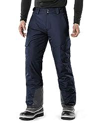 TSLA Men's Rip-Stop Snow Pants Windproof...