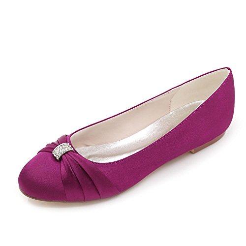 Estrecha Marfil Redondo F9872 Confort Boda Office Ballet Para Purple 06 amp; Elobaby Punta Mujeres Career Las de qnI7x4WwZA