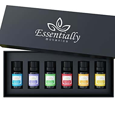 Essential Oil Gift Set Top 6 for Aromatherapy with 100% Pure Essential Oils -Premium Therapeutic Grade - Best for Diffuser