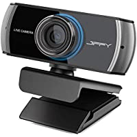 JIFFY Upgrade Wide-Angle HD Manual Focus Webcam, 1080P / 1536P H.264 Camera with 2 Microphones, Video Call and Recording for TV,Laptop and Desktop, Plug and Play Web Cam