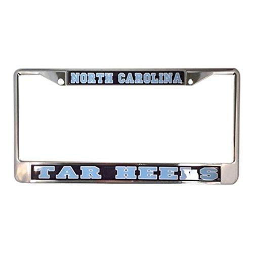 University of North Carolina Tar Heels Silver Metal License Plate Frame