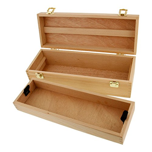 (US Art Supply Artist Wood Pastel, Pen, Marker Storage Box with Drawer(s) (Medium Tool Box))