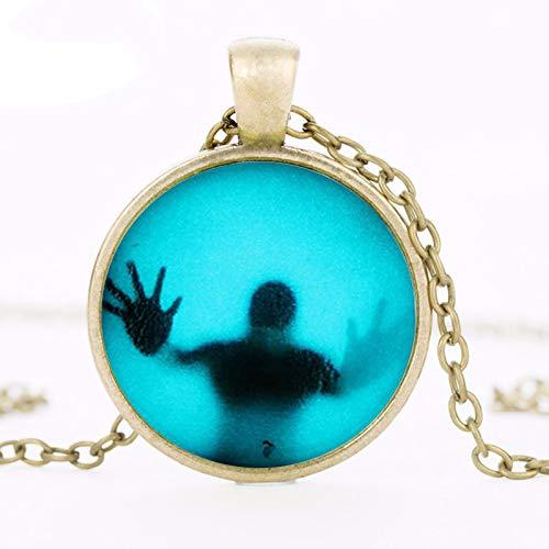 Necklace for Men Horror Movie The Walking Dead Pendant Charm Steampunk Necklace Doctor Who 1pcs//lot Mens Vintage Chain Vintage
