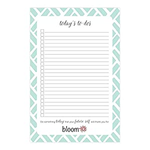 "bloom daily planners Today's To-Dos Tear Off To Do Pad - Mint Daily Planning To Do Pad - 6"" x 9"""