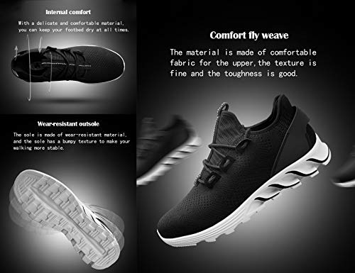 5216 Fitness Zapatos Zapatillas Deportivas Interior Gnediae Casual Y Gimnasio De Sneakers Correr Deportes Running Negro Hombres Exterior Para OUBFnaxHwq