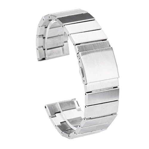 Creazy Stailess Steel Bracelet Strap Watch Band for Fitbit Blaze Smart Fitness Watch (Silver)