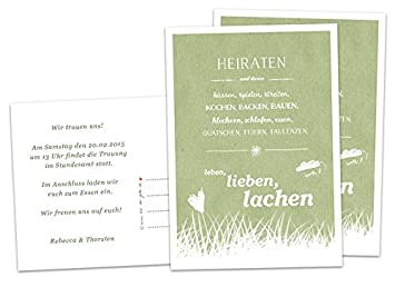 Wedding Invitation Marry And Then Green Wedding