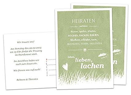 Boda Invitación Casamos Y Luego Verde Tarjetas De