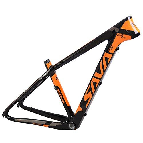 SAVADECK(サバデック) カーボンフレーム マウンテンバイクフレーム 自転車フレーム バイクフレーム 超軽量 T800炭素繊維 カーボンファイバーMTB自転車 BSA軽量 自転車パーツ フレーム B06XNPD71T 15.5
