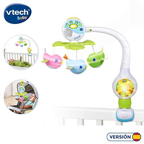 VTech Movil de viaje Pio Pio melodias, proyector de bebe para cuna o para fijar en silla de paseo y portabebes, multicolor (80-513122) , color/modelo surtido