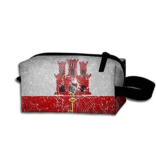 Cases Gibraltar (Pencil Case Broken Gibraltar Flags Large Capacity Pen Bag Makeup Pouch With Zipper)