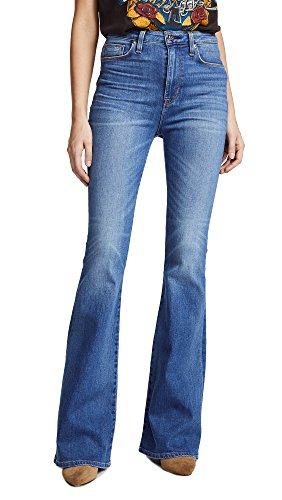 HUDSON Women's Kaia High Rise Flare Jeans, Rogue, (Faded Flare Jeans)