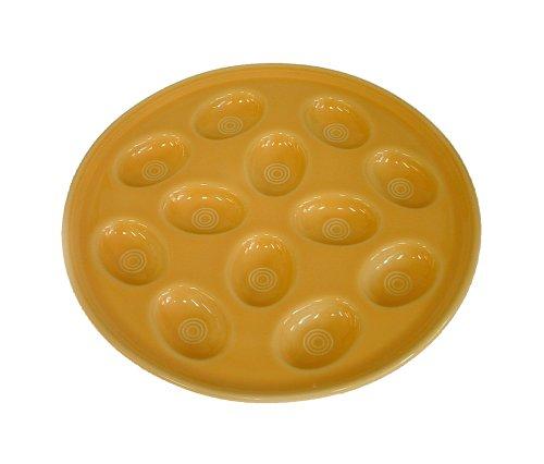Fiesta Tangerine 574 Egg Plate