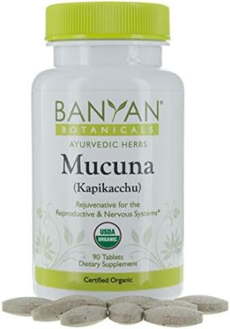 Banyan Botanicals Mucuna (Kapikacchu) - USDA Organic - 90 Tablets - Natural Source of L-dopa - Nervous System Support*