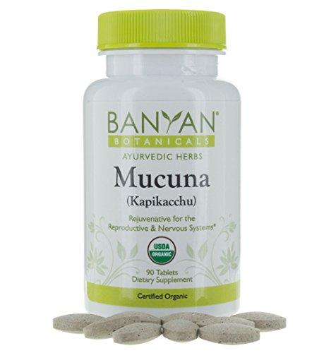 Banyan Botanicals Mucuna (Kapikacchu) - USDA Organic - 90 Tablets - Natural Source of L-dopa - Nervous System Support* by Banyan Botanicals