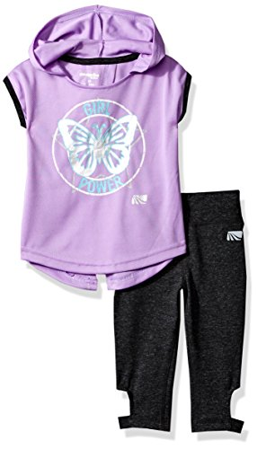 Marika Toddler Girls' Capri Sets with Headband,Lilac view/charcoal,3T ()