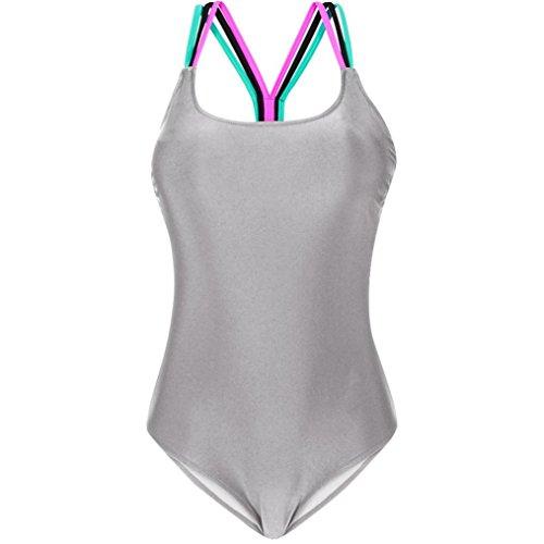 Bagno Grigio Costume Bagno Imbottito Senza Bikini Spalline Da Donna Push up Intero Ohq Costumi BHIOfwBq