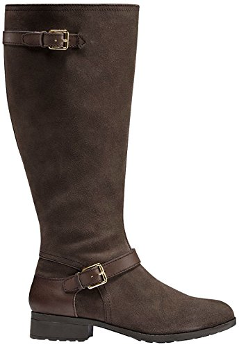 Cole Haan Mujeres Marla Botas Altas Impermeables 30mm Extended Calf Dark Taupe Gamuzas Impermeables