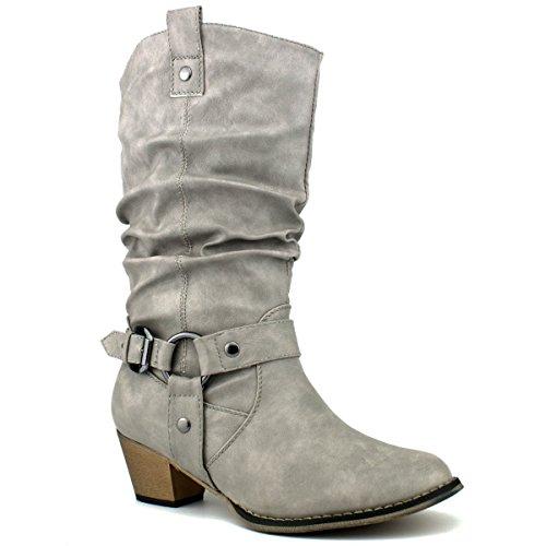 (Refresh Women Wild-02 Western Style Cowboy Boots)