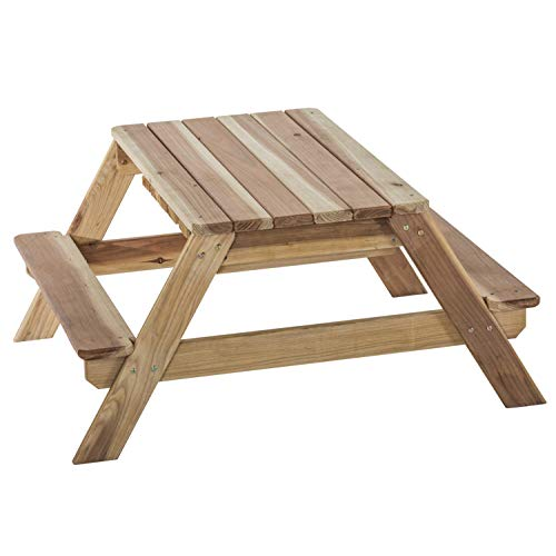 (Jack & June Redwood Convertible Sand Box and Picnic Table Playset)
