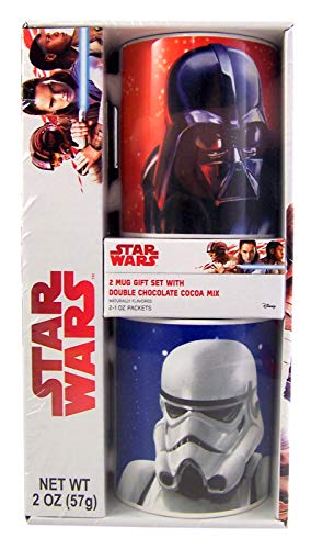 Star Wars Darth Vader and Strormtrooper Mugs and Cocoa Mix Gift Set