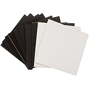 8pcs Black 2pcs White Neoprene Rubber Sheets Foam Self