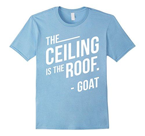 Ceiling Roof (Men's Ceiling Roof Goat T-Shirt North Carolina (Blue or Black) XL Baby Blue)
