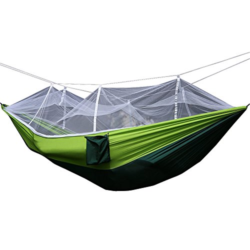 Dasior Portable Lightweight Outdoor Camping Hammock,Parachute Nylon Hammock with Mosquito Net for Backpacking and Hiking