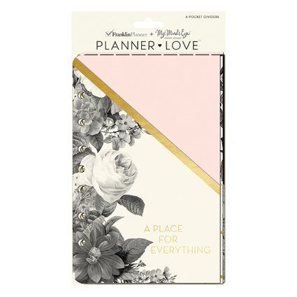 Classic Planner Love Pocket Dividers - Blush Florals