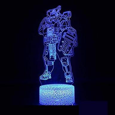 APEX OW estrategia de disparo Juego de supervivencia Serie de personajes guerrero asesino 3D Lámpara de mesa Led Regalo creativo para niños Decoración de luz nocturna s