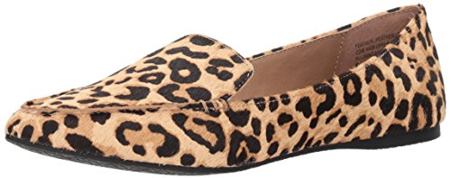 Steve Madden Women's FEATHERL Loafer Flat, Leopard, 8.5 M US