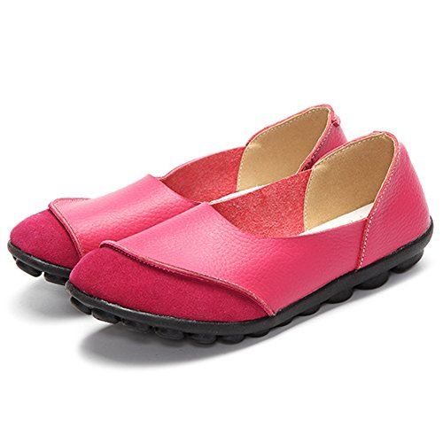 Summer Casual D Shoes Slip Women's Loafers Moccasin Spring Leather amp; ONS HUAN Flats UTqOx