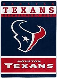 "The Northwest Company Officially LicensedNFL Houston Texans 12th Man Plush Raschel Throw Blanket, 60"" x 8"