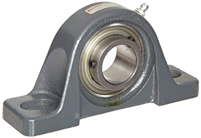 "Browning VPLS-116 Pillow Block Ball Bearing, 2 Bolt, Setscrew Lock, Contact and Flinger Seal, Cast Iron, Inch, 1"" Bore, 1-5/16"" Base To Center Height"