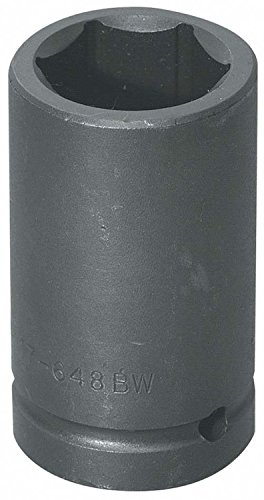 (Williams Tools 17-648BW - Impact Socket - 1 in Drive, 6 PT, Black, 4 in OAL, Imperial)