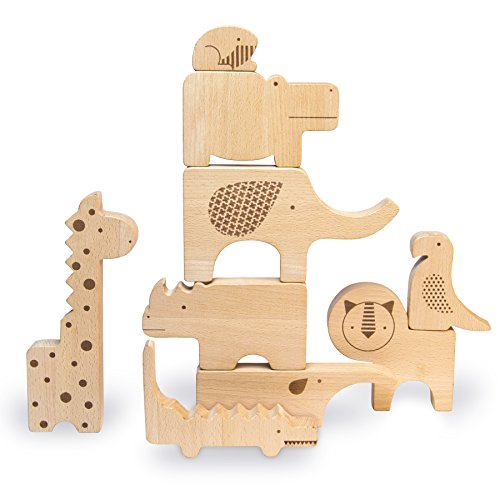 Petit Collage Wooden Puzzle Plus Play, Safari Jumble