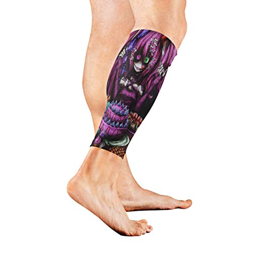 Stretch Sport Calf Sleeve Fabulous Anime Halloween Wallpaper Protective Guard for Men Women - Best Footless Compression Socks for Shin Splints, Running,Basketball Football (1 Pair)