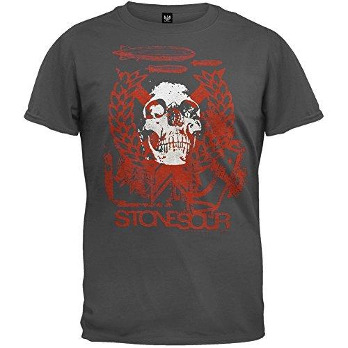 Youth T-shirt Stone (Stone Sour - Boys Skull Youth T-shirt Youth Large Grey)