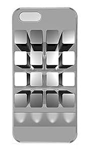 iPhone 5 5S Case 3D Bookshelf PC Custom iPhone 5 5S Case Cover Transparent