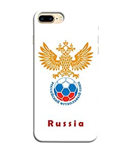 ColorKing Football Russia 23 White shell case cover for Apple iphone 8 Plus