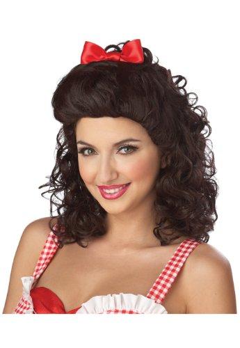 Sweet Farm Girl Wig (Brown) Accessory -
